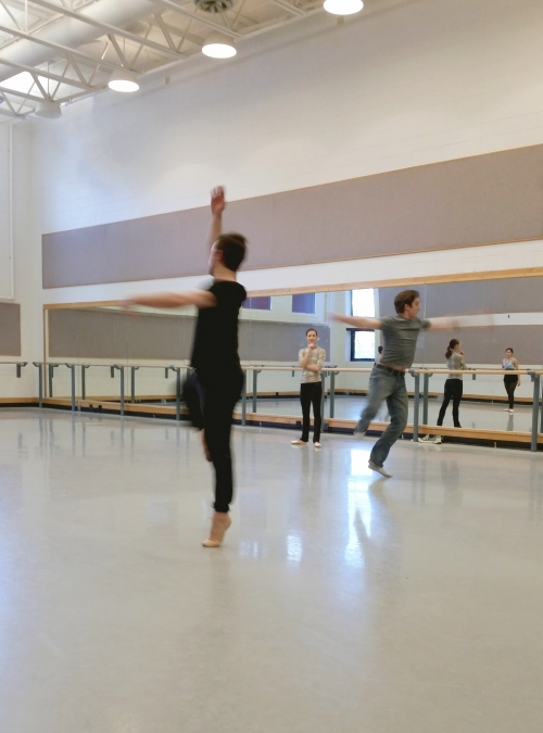 "Chelsea Keefer and Chris Ruud work with Ballet Students on  ""She's So Fine"" by Val Caniparoli"